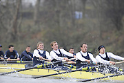 Putney, GREAT BRITAIN,    left, Bow. Colin KEOGH, 2. Douglas BRUCE, 3.Michal PLOTOWIAK, 4. David HOPPER, during the 2008 Varsity/Oxford University [OUBC] Trial Eights, raced over the championship course. Putney to Mortlake, on the River Thames. Thurs. 11.08.2008 [Mandatory Credit, Peter Spurrier/Intersport-images].. Varsity Boat Race, Rowing Course: River Thames, Championship course, Putney to Mortlake 4.25 Miles,