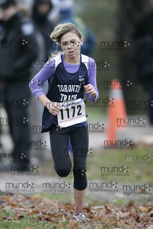 Toronto, Ontario ---16/11/08--- CLAIRE LOCKRIDGE runs in the Bantam Girls race at the 2008 OTFA Cross Country Championships in Toronto, Ontario, November 16, 2008. .GEOFF ROBINS