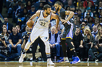 MEMPHIS, TN - DECEMBER 10:  Marc Gasol #33 of the Memphis Grizzlies tries to drive to the basket against the Golden State Warriors at the FedExForum on December 10, 2016 in Memphis, Tennessee.  The Grizzlies defeated the Warriors 110-89.  NOTE TO USER: User expressly acknowledges and agrees that, by downloading and or using this photograph, User is consenting to the terms and conditions of the Getty Images License Agreement.  (Photo by Wesley Hitt/Getty Images) *** Local Caption *** Marc Gasol