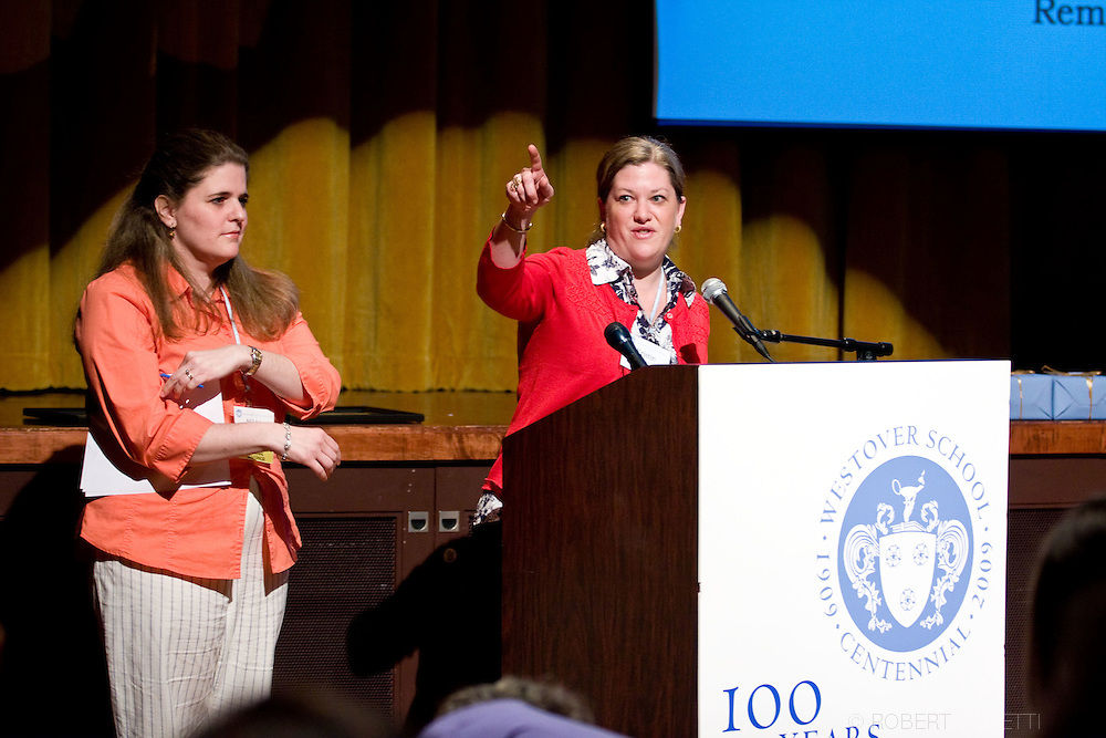 APR 24-26, 2009: The Westover School Founders Weekend. Town meeting and presentation of awards. Alumnae and faculty celebrated the school's 100th birthday at the Westover School in Middlebury, Connecticut. ...