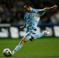Photo: Steve Bond.<br /> Coventry City v West Ham United. Carling Cup. 30/10/2007. Michael Mifsud lines up a shot