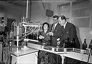 26/09/1962<br /> 09/26/1962<br /> 26 September 1962<br /> Opening of Earl Bottlers Ltd. at South Earl Street, Dublin. Minister for Justice Charles Haughey opened the new premises that produced Sandyman port. Miss Ann Moran of Dublin is operating the filling machine.
