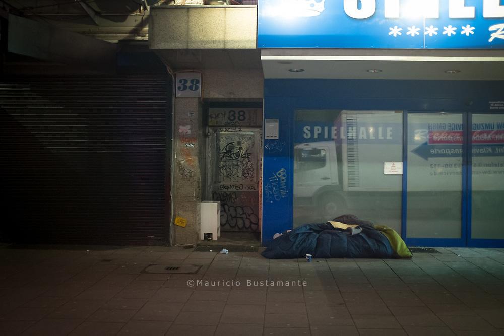 Schlafplätze von Obdachlosen