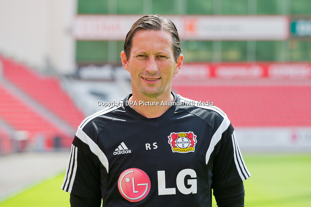German Soccer Bundesliga - Photocall Bayer 04 Leverkusen on August 4th 2014: Head Coach Roger Schmidt.
