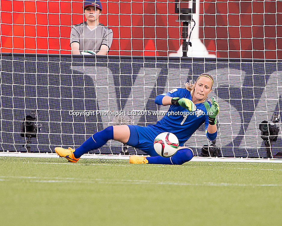 Loes Geurts. Edmonton, Alberta, Canada, June 6, 2015.  The opening day of the Women's World Cup at Commonwealth Stadium.  New Zealand was defeated by Netherlands 1-0.
