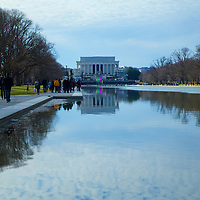 A reflecting pool that has witnessed one major events in history - a gathering place for a nation.