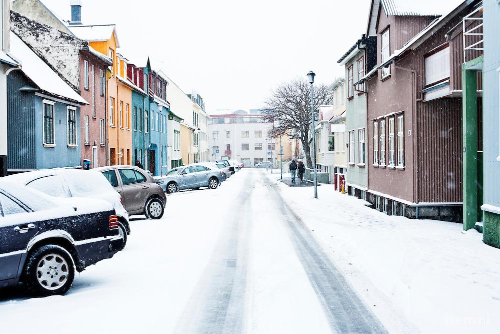 Snow in down town Reykjavik - Winter 2011