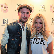 NLD/Amsterdam/20130205 - Modeshow Nikki Plessen 2013, Ben Saunders en partner Yvonne Coldeweijer