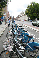 Dublin bikes scheme bicycle station on Merrion Square in Dublin Ireland