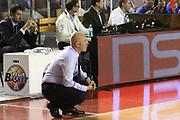 DESCRIZIONE : Roma Lega A 2012-13 Virtus Roma Trenkwalder Reggio Emilia<br /> GIOCATORE :  Massimiliano Menetti<br /> CATEGORIA : curiosita ritratto<br /> SQUADRA : Trenkwalder Reggio Emilia<br /> EVENTO : Campionato Lega A 2012-2013 <br /> GARA : Virtus Roma Trenkwalder Reggio Emilia<br /> DATA : 14/10/2012<br /> SPORT : Pallacanestro <br /> AUTORE : Agenzia Ciamillo-Castoria/M.Simoni<br /> Galleria : Lega Basket A 2012-2013  <br /> Fotonotizia : Roma Lega A 2012-13 Virtus Roma Trenkwalder Reggio Emilia<br /> Predefinita :