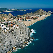 Aerial view of Los Cabos, Baja California Sur, Mexico.
