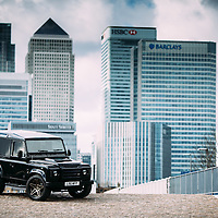 Land Rover Owner Magazine<br /> Deranged Landrover<br /> London, Canary Wharf<br /> 7th March 2016<br /> Photo copyright : Malcolm Griffiths<br /> ref: Digital Image A50A9136<br /> www.malcolm.gb.net