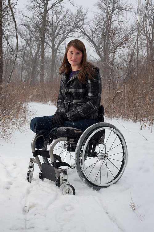Kristen Anderson who, at 17, attempted to commit suicide by lying down in front of an oncoming train.  She survived but lost both of her legs.  She's now 28 and she now counsels suicidal teens and women.