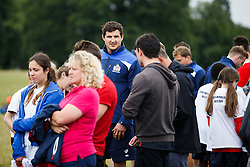 Mark Sorenson of Bristol Rugby looks on as Local Junior Schools compete in a Tag Rugby Competion - Mandatory byline: Rogan Thomson/JMP - 07966 386802 - 14/07/2015 - SPORT - RUGBY UNION - Bristol, England - Durdham Downs -  Webb Ellis Cup visits Bristol as part of the 2015 Rugby World Cup Trophy Tour