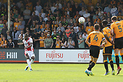Mohamed Eisa scores his CTFC record goal during the EFL Sky Bet League 2 match between Cambridge United and Cheltenham Town at the Cambs Glass Stadium, Cambridge, England on 21 April 2018. Picture by Antony Thompson.