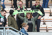 FGR fans at the end of the match during the EFL Sky Bet League 2 match between Cambridge United and Forest Green Rovers at the Cambs Glass Stadium, Cambridge, England on 7 September 2019.