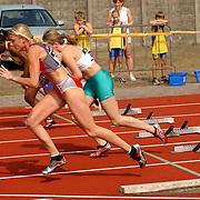 Arenagames 2004, 100 meter horden dames, Sofie Vanackeren