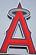 ANAHEIM, CA - APRIL 26:  The Big A sign of the Los Angeles Angels of Anaheim towers over the field in left center during the game against the Tampa Bay Devil Rays at Angel Stadium in Anaheim, California on April 26, 2007. The Angels defeated the Devil Rays 11-3. ©Paul Anthony Spinelli