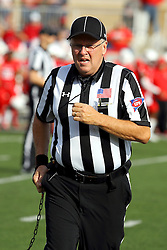29 October 2016:  Line Judge Gary Barrett. NCAA FCS Football game between South Dakota State Jackrabbits and Illinois State Redbirds at Hancock Stadium in Normal IL (Photo by Alan Look)
