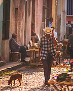 "The calm of the streets of Trinidad, Cuba, glowing in the evening light. It's well worth staying in one of the ""casa particular"" guest houses and along with the warm hospitality to listen to fascinating tales of the country's recent changes."