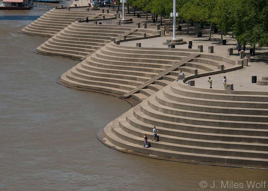 Serpentine Wall at Cincinnati Ohio's Riverfront