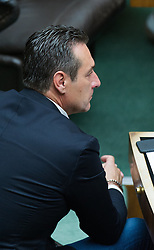 16.06.2016, Parlament, Wien, AUT, Parlament, Nationalratssitzung, Sitzung des Nationalrates mit Wahl der neuen Rechnungshofpräsidentin, im Bild Klubobmann FPÖ Heinz-Christian Strache // Leader of the parliamentary group FPOe Heinz Christian Strache during meeting of the National Council of austria with election of the new president of the austrian court of audit at austrian parliament in Vienna, Austria on 2016/06/16, EXPA Pictures © 2016, PhotoCredit: EXPA/ Michael Gruber