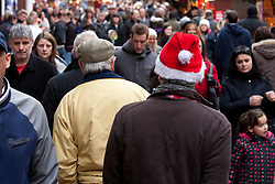 © under licence to London News Pictures 12/12/2010 Christmas shoppers were out in force today (Sunday) as car parks were full and the streets packed with shoppers looking for Christmas presents. Picture shows  a festive shopper on New Street in Birmingham..Picture credit: Dave Warren/London News Pictures...