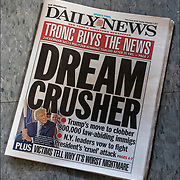 Daily News Headlines -&quot;Dream Crusher&quot;<br /> <br /> The Trump administration announced Tuesday it would begin to unwind an Obama-era program that allows younger undocumented immigrants to live in the country without fear of deportation, calling the program unconstitutional but offering a partial delay to give Congress a chance to address the issue.<br /> <br /> Trump issued a statement saying Obama made &ldquo;an end-run around Congress&rdquo; that violated &ldquo;the core tenets that sustain our Republic.&rdquo; He added that there can be &ldquo;no path to principled immigration reform if the executive branch is able to rewrite or nullify federal laws at will.&rdquo;<br /> <br /> Trump administration officials cast the decision as a humane way to unwind the program and called on lawmakers to provide a legislative solution to address the immigration status of the dreamers. Senior DHS officials emphasized that if Congress fails to act and work permits begin to expire, dreamers will not be high priorities for deportations &mdash; but they would be issued notices to appear at immigration court if they are encountered by federal immigration officers.