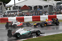 12.06.2011, Circuit Gilles Villeneuve, Montreal, CAN, Großer Preis von Kanada / Montreal, RACE 07, im Bild  Nico Rosberg (GER), Mercedes GP - Lewis Hamilton (GBR), McLaren F1 Team - Mark Webber (AUS), Red Bull Racing . !   EXPA Pictures © 2011, PhotoCredit: EXPA/ nph/  Dieter Mathis        ****** only for AUT, POL & SLO ******