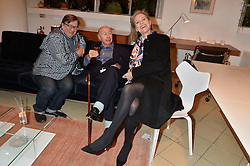 Left to right, SEBASTIAN CONRAN, SIR TERENCE & LADY CONRAN at a party to celebrate the launch of Conran Italia at The Conran Shop, Michelin House, 81 Fulham Road, London on 19th March 2015.