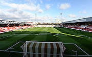 Griffin Park before the Sky Bet Championship match between Brentford and Nottingham Forest at Griffin Park, London, England on 21 November 2015. Photo by David Charbit.