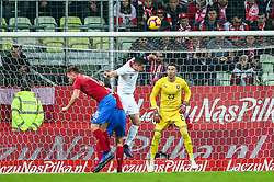 November 15, 2018 - Gdansk, Poland - Tomas Kalas and Jiri Pavlenka of Czech Republic vies Robert Lewandowski of Poland during the international friendly soccer match between Poland and Czech Republic at Energa Stadium in Gdansk, Poland on 15 November 2018. (Credit Image: © Foto Olimpik/NurPhoto via ZUMA Press)