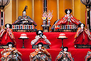 """A traditional doll display for Girls Day, or """"Hinamatsuri"""" in Japanese."""
