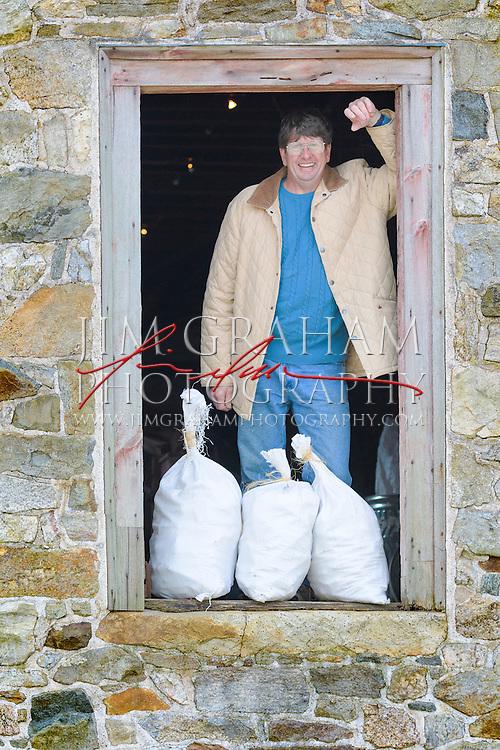 Charlie Jordan at the Mill at Anselma. Photo by Jim Graham