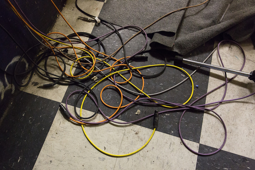 Edan's cables during Death By Audio's final week, 2014