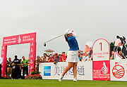 HAIKOU- HAINAN ISLAND-CHINA- Inbee Park of Korea in action, Saturday, March 14, 2015, during the third round of the World Ladies Championship at the Blackstone Course, Mission Hills Golf Resort, Haikou, Hainan Island, China. Picture by Paul Lakatos/Mission Hills.