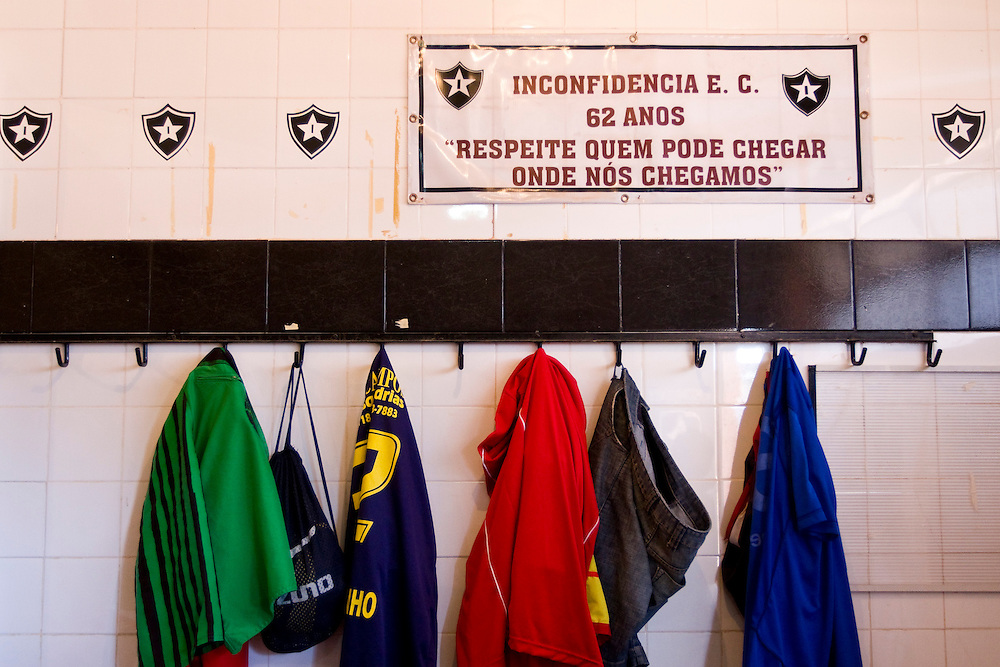 Belo Horizonte_MG, Brasil...1a Copa Kaiser de Futebol Amador de Belo Horizonte. Na foto vestiario do Inconfidencia...1st Kaiser Cup of Amateur Football in Belo Horizonte. In this photo the Inconfidencia changing room...Foto: NIDIN SANCHES / NITRO