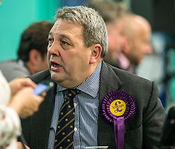 UKIP Scottish leader David Coburn at the Kirkcaldy &amp; Cowdenbeath constituency count.<br /> &copy; Dave Johnston/ EEm