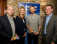 "19/7/2011. Bobby Bergin, Ulster Bank,  Olwyn Long, Ulster Bank, Thomas Padden, Propeller, John Crumlish Galway Arts Festival in McSwiggans for the pre show reception of Propellors ""Comedy of Errors"" by Shakspeare in the Galway Arts Festival, sponsored by Ulster Bank. Photo:Andrew Downes"