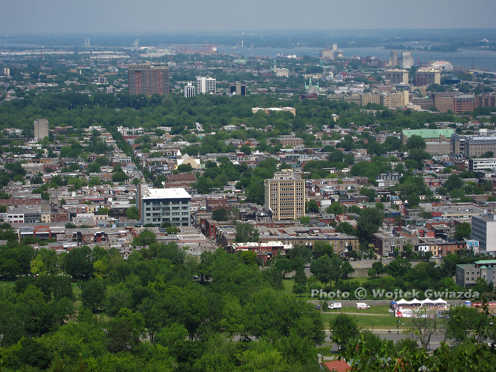 Cityscape, looking east from Mount Royal, Montreal.