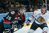 KELOWNA, CANADA - NOVEMBER 22: Cole Linaker #26 of Kelowna Rockets skates against the Portland Winterhawks on November 22, 2014 at Prospera Place in Kelowna, British Columbia, Canada.  (Photo by Marissa Baecker/Shoot the Breeze)  *** Local Caption *** Cole Linaker;