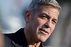 Hollywood star George Clooney was treated in hospital on Tuesday for minor injuries after a scooter accident in Sardinia, Italy on July 10, 2018 ------------ George Clooney attends the premiere of Disney's Tomorrowland at AMC Downtown Disney 12 Theater on May 9, 2015 in Anaheim, CA, USA. Photo by Lionel Hahn/ABACAPRESS.COM