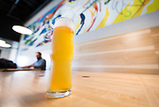 """The """"Zwickle Vision"""" unfiltered pilsner at Working Draft Beer Company in Madison, Wisconsin, Thursday, March 22, 2018."""