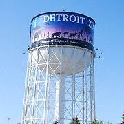 The Detroit Zoo is located about 2 miles (3.2 km) north of the Detroit city limits at the intersection of Woodward Avenue, 10 Mile Road, and 696 in Royal Oak and Huntington Woods, Michigan, USA.