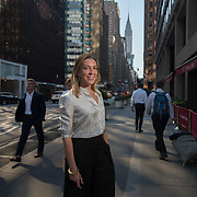 Mar0071832    AUGUST 4TH 2016--NEW YORK CITY--Antonia Romeo, the first female Consul General of New York near her office at the British Consulate in Midtown Manhattan.