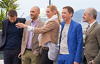 Joachim Lafosse, Mohamed Diab, Uma Thurman, Reda Kateb and Karel Och at the Jury Un Certain Regard photo call at the 70th Cannes Film Festival Thursday 18 May 2017, Cannes, France. Photo credit: Doreen Kennedy