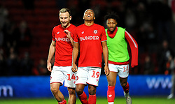 Andi Weimann and goal scorer Niclas Eliasson of Bristol City at the final whistle -Mandatory by-line: Nizaam Jones/JMP - 18/01/2020 - FOOTBALL - Ashton Gate - Bristol, England - Bristol City v Barnsley - Sky Bet Championship