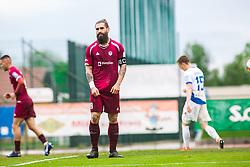 Luka MAJCEN during Football match between NK Triglav Kranj and NK Celje, on May 12, 2019 in Sport center Kranj, Kranj, Slovenia. Photo by Peter Podobnik / Sportida