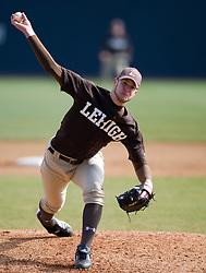 Lehigh pitcher Mike Lebo.  The #17 ranked Virginia Cavaliers baseball team defeated the Lehigh Mountain Hawks 12-1 at the University of Virginia's Davenport Field in Charlottesville, VA on February 24, 2008.