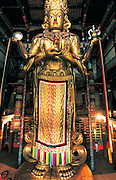 20 meter gold & bronze statue<br /> of Migjid Janraisig<br /> Gandantegchinlen Monastery<br /> Ulaanbaatar<br /> Mongolia